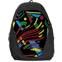 Colorful Decorative Abstrat Design Backpack Bag by Valentinaart