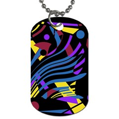 Decorative Abstract Design Dog Tag (two Sides) by Valentinaart