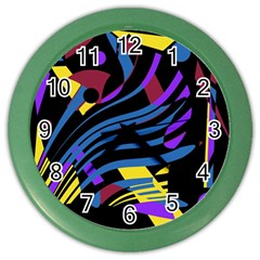 Decorative Abstract Design Color Wall Clocks by Valentinaart
