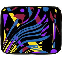 Decorative Abstract Design Double Sided Fleece Blanket (mini)  by Valentinaart