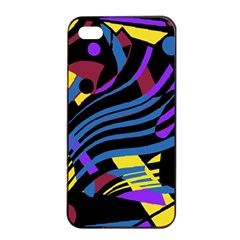 Decorative Abstract Design Apple Iphone 4/4s Seamless Case (black) by Valentinaart