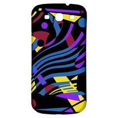 Decorative Abstract Design Samsung Galaxy S3 S Iii Classic Hardshell Back Case by Valentinaart