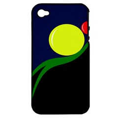 Falling Boalls Apple Iphone 4/4s Hardshell Case (pc+silicone) by Valentinaart