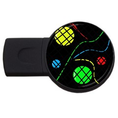 Colorful Design Usb Flash Drive Round (4 Gb)  by Valentinaart