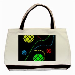 Colorful Design Basic Tote Bag by Valentinaart