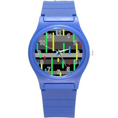 Colorful Pattern Round Plastic Sport Watch (s) by Valentinaart