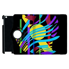 Colorful Abstract Art Apple Ipad 2 Flip 360 Case by Valentinaart