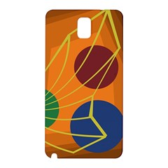 Orange Abstraction Samsung Galaxy Note 3 N9005 Hardshell Back Case by Valentinaart