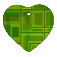 Green Pattern Ornament (heart)  by Valentinaart