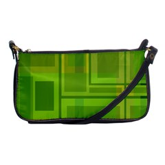 Green Pattern Shoulder Clutch Bags by Valentinaart