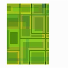 Green Pattern Small Garden Flag (two Sides) by Valentinaart