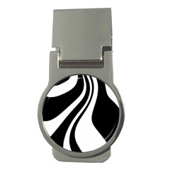 Black And White Pattern Money Clips (round)  by Valentinaart