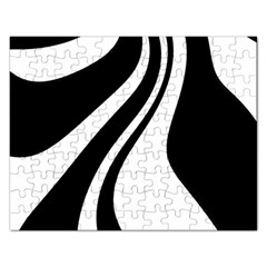 Black And White Pattern Rectangular Jigsaw Puzzl by Valentinaart