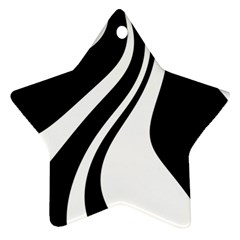 Black And White Pattern Star Ornament (two Sides)  by Valentinaart