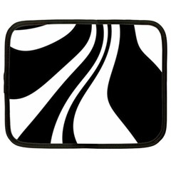 Black And White Pattern Netbook Case (xxl)  by Valentinaart