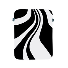 Black And White Pattern Apple Ipad 2/3/4 Protective Soft Cases by Valentinaart