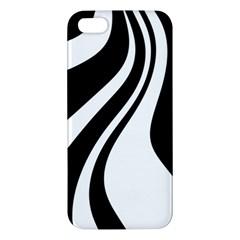 Black And White Pattern Iphone 5s/ Se Premium Hardshell Case by Valentinaart