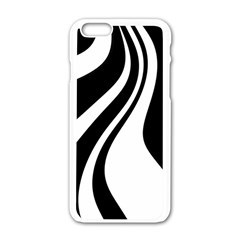 Black And White Pattern Apple Iphone 6/6s White Enamel Case by Valentinaart