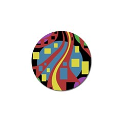 Colorful Abstrac Art Golf Ball Marker (4 Pack) by Valentinaart
