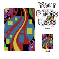 Colorful abstrac art Playing Cards 54 Designs  by Valentinaart
