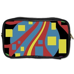 Colorful Abstrac Art Toiletries Bags 2 Side by Valentinaart