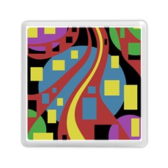 Colorful Abstrac Art Memory Card Reader (square)  by Valentinaart