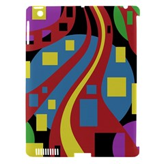 Colorful Abstrac Art Apple Ipad 3/4 Hardshell Case (compatible With Smart Cover) by Valentinaart