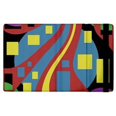 Colorful Abstrac Art Apple Ipad 2 Flip Case by Valentinaart