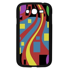 Colorful Abstrac Art Samsung Galaxy Grand Duos I9082 Case (black)