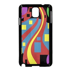 Colorful Abstrac Art Samsung Galaxy Note 3 Neo Hardshell Case (black) by Valentinaart
