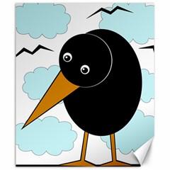 Black Raven Canvas 20  X 24   by Valentinaart