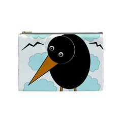 Black Raven Cosmetic Bag (medium)  by Valentinaart