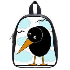 Black Raven School Bags (small)  by Valentinaart