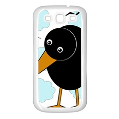 Black Raven Samsung Galaxy S3 Back Case (white) by Valentinaart