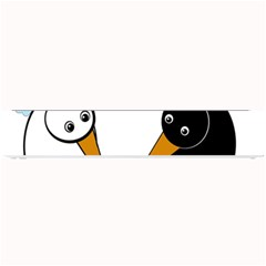 Black And White Birds Small Bar Mats by Valentinaart