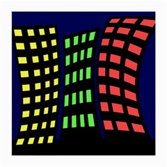 Colorful abstract city landscape Medium Glasses Cloth (2-Side)