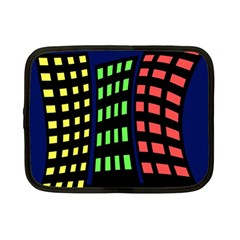 Colorful Abstract City Landscape Netbook Case (small)  by Valentinaart
