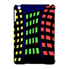 Colorful Abstract City Landscape Apple Ipad Mini Hardshell Case (compatible With Smart Cover) by Valentinaart
