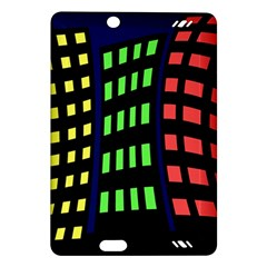 Colorful Abstract City Landscape Amazon Kindle Fire Hd (2013) Hardshell Case by Valentinaart
