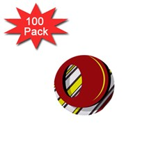 Red And Yellow Design 1  Mini Buttons (100 Pack)  by Valentinaart