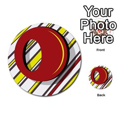 Red And Yellow Design Multi Purpose Cards (round)