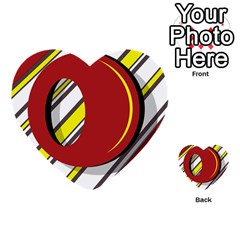 Red And Yellow Design Multi Purpose Cards (heart)  by Valentinaart