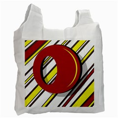 Red And Yellow Design Recycle Bag (one Side) by Valentinaart