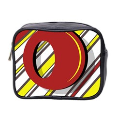 Red and yellow design Mini Toiletries Bag 2-Side