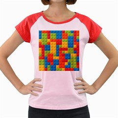 Lego Bricks Pattern Women s Cap Sleeve T-Shirt by Etnousta