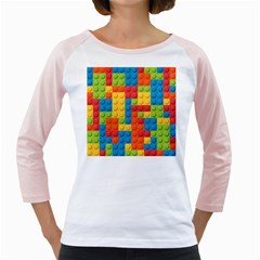 Lego Bricks Pattern Girly Raglan by Etnousta