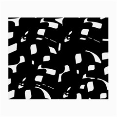 Black And White Pattern Small Glasses Cloth by Valentinaart