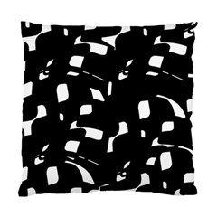 Black And White Pattern Standard Cushion Case (one Side) by Valentinaart