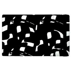 Black And White Pattern Apple Ipad 2 Flip Case by Valentinaart
