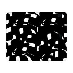 Black and white pattern Samsung Galaxy Tab Pro 8.4  Flip Case by Valentinaart